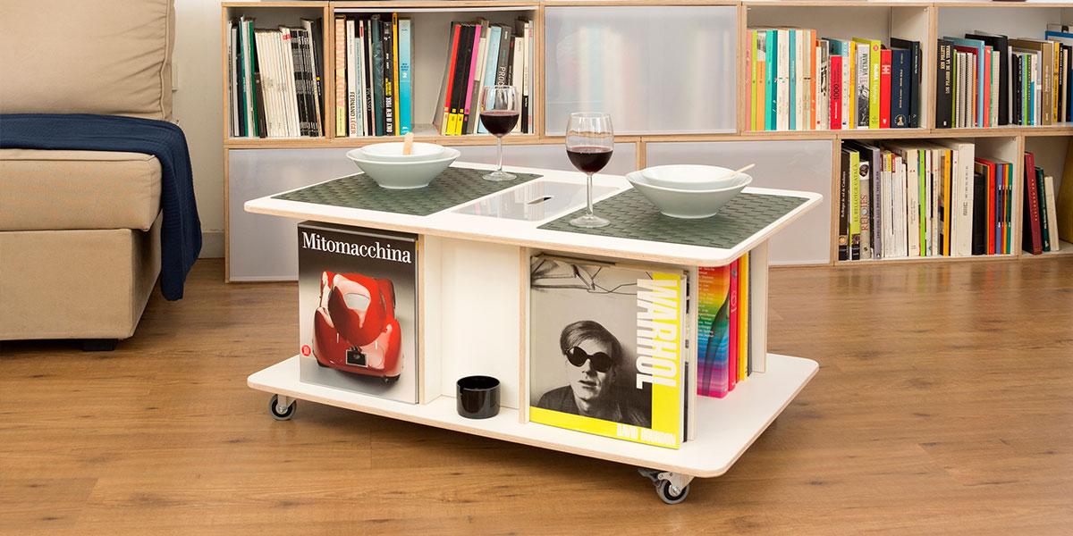 botable mesa de centro cafe con ruedas diseno botellero