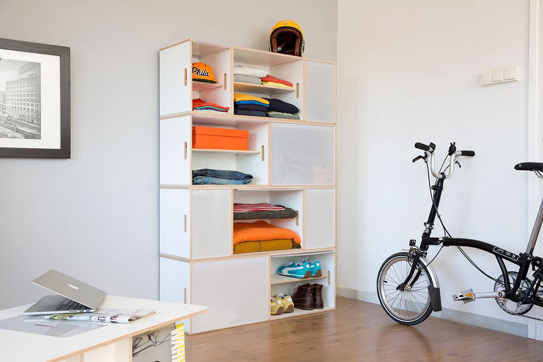 modulare Schrank für die Kleidung