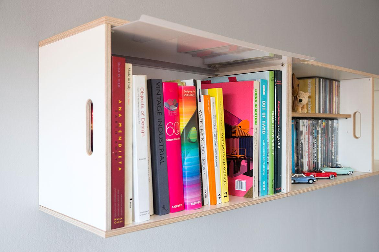 Peut Accrocher Les Bo Tes Au Mur Brickbox Tag Res  # Bibliotheque En Vitre Aluminium