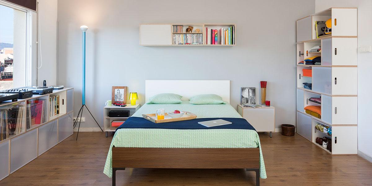 modular Kleiderschrank Raum offen wenig Tiefe