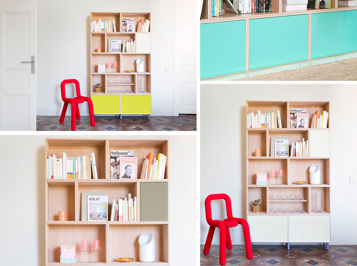 Aluminium doors in 4 colors