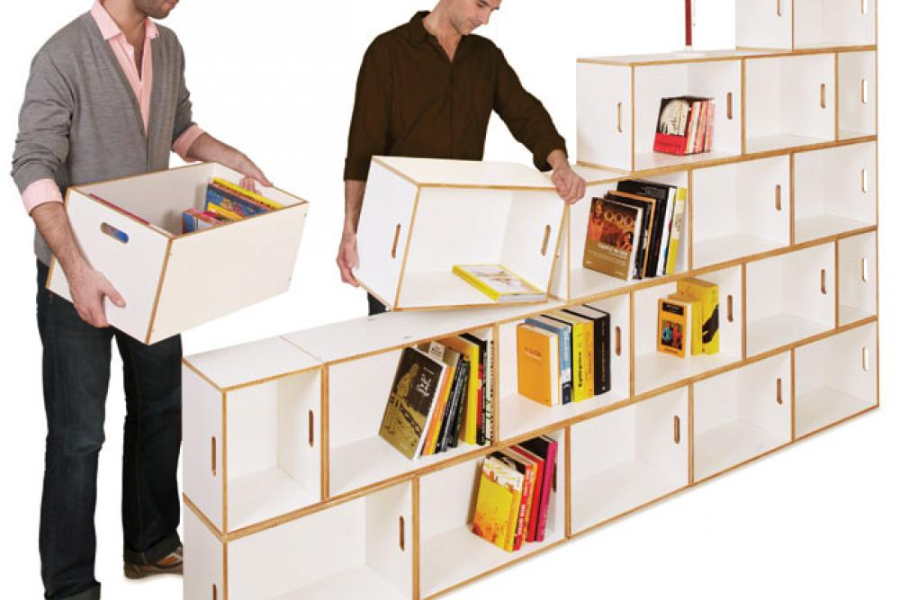 Brickbox la librer a m s vers til brickbox estanterias - Estanterias diseno pared ...