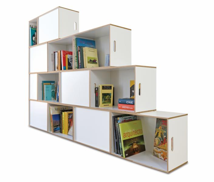 Estanter a escalera brickbox estanterias librerias modulares - Estanterias en escalera ...