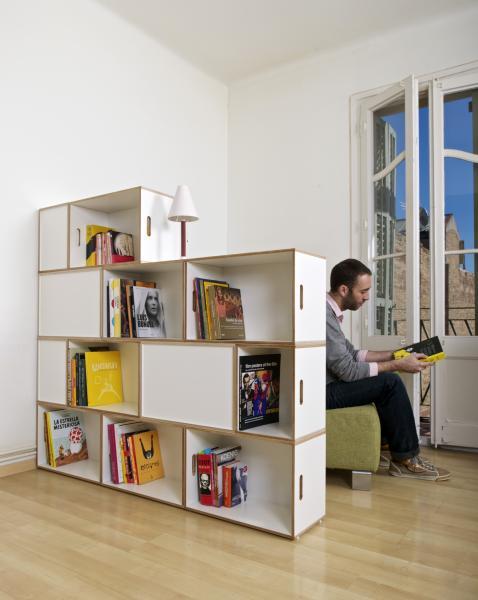 estanteria libreria bonita diseo para separar espacios with estanterias separadoras de ambientes
