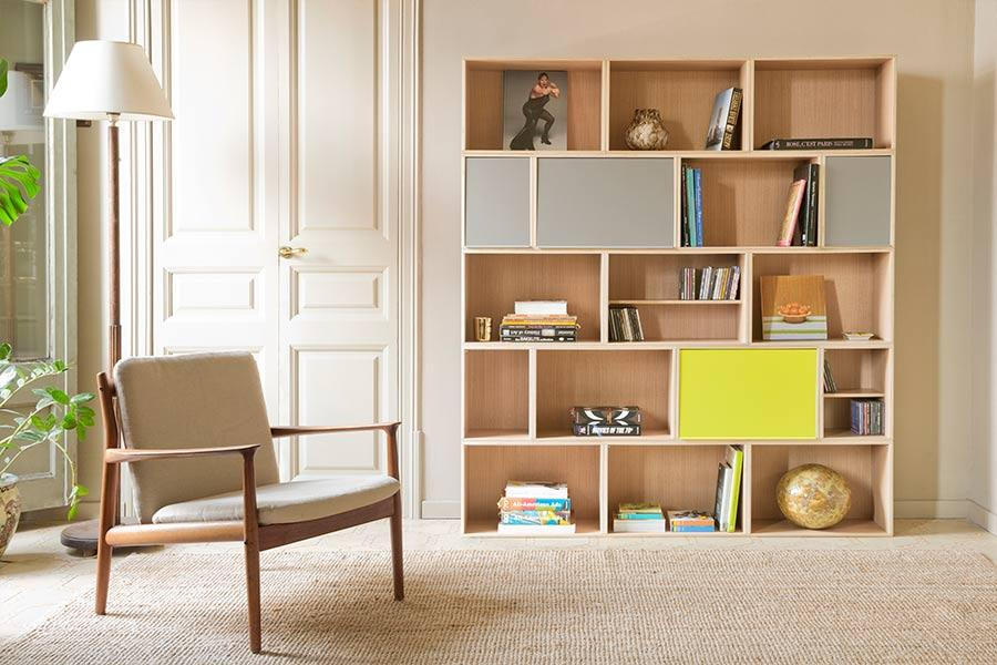 bildergalerie brickbox regale modulare bibliotheken. Black Bedroom Furniture Sets. Home Design Ideas