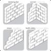 Verschiedene Anordnungen, um verschiedene modulare Möbel in Form einer Treppe, als Eckschrank oder Raumteiler zu schaffen