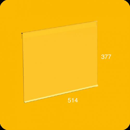 Render 3D de la puerta de policarbonato en tamaño XL y en color transparente para el modelo BrickBox XL.
