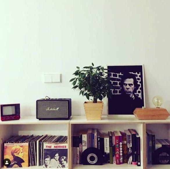 BrickBox en buena compañía. Módulos para guardar discos y libros.