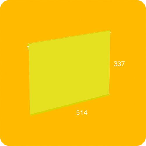 Puerta grande aluminio amarilla para estantería modular