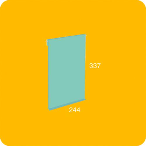 Puerta pequeña metálica estantería modular BrickBox