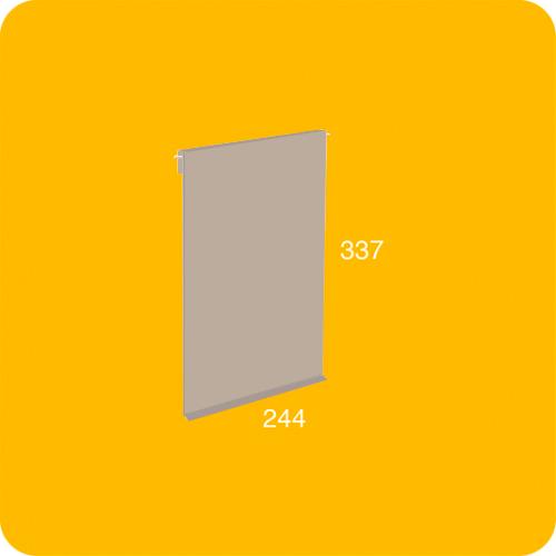 Puerta pequeña gris para estantería modular
