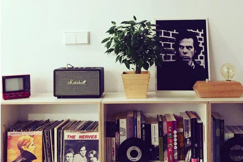 BrickBox para guardar libros y discos