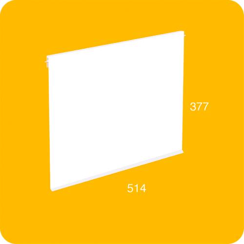 Große XL-Tür in Weiß für das modulare Regal BrickBox XL Large