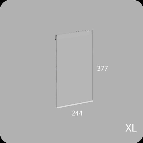 Puerta pequeña transparente para el modelo BrickBox XL
