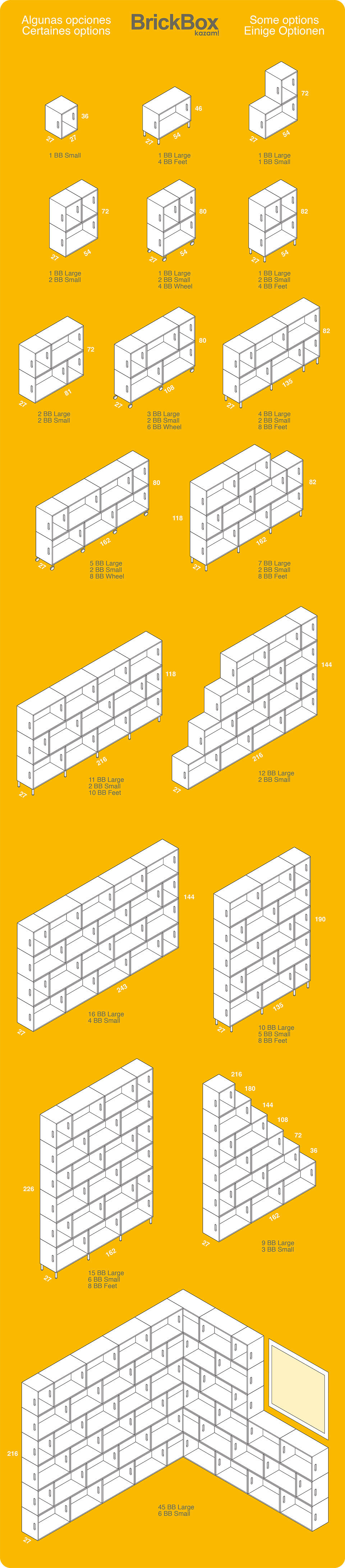 Estanterias modulares BrickBox