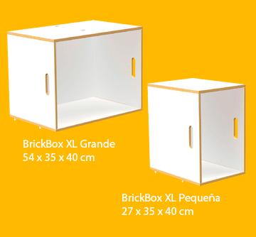 Estanterías modulares tamaño XL de color blanco