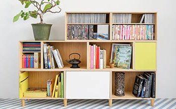 Nueva estanteria de madera de roble para guardar libros, revistas, CDs y DVDs