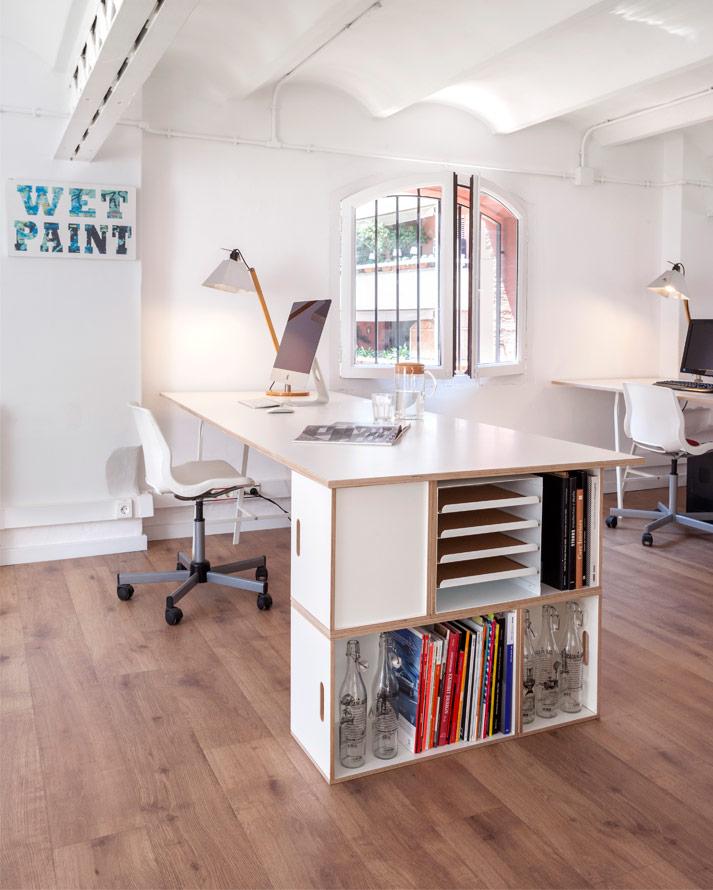 Muebles modulares para oficina, construye escritorios y archivadores todo en uno con BrickBox