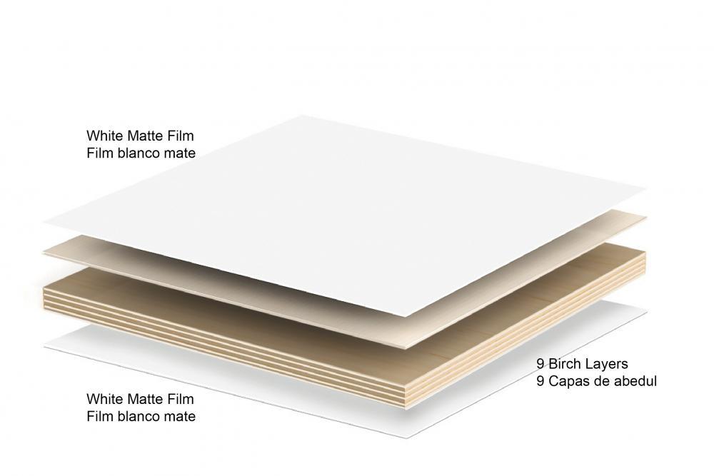 El contrachapado de madera de abedul es el material con el que se fabrican las estanterias BrickBox