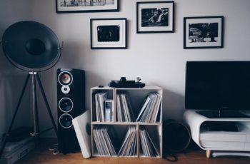 Modular BrickBox vinyl shelf