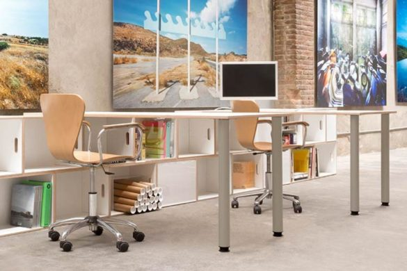 New gray metal legs for office tables