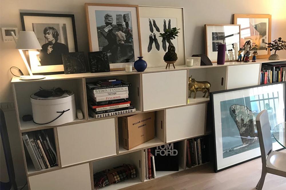 BrickBox XL with white doors to store photo books