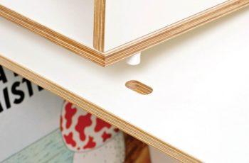 El contrachapado de abedul es un material resistente y de calidad. Por eso lo usamos en nuestras estanterias modulares