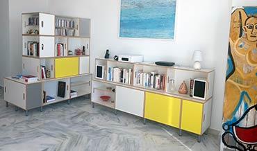 Composiciones estanterias modulares