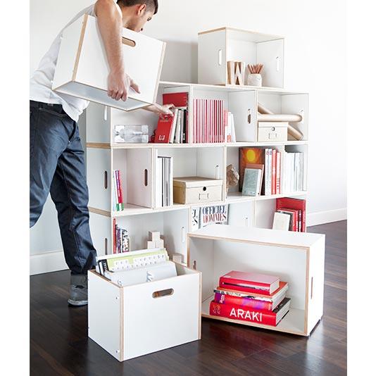 Assembly of the modular shelf BrickBox combo Paris