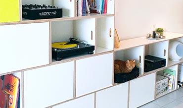 Estanterias felinas. Muebles para gatos.