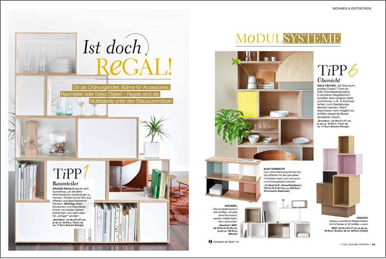 BrickBox publicada en la revista alemana Zuhause Wohnen